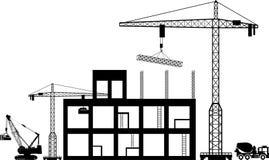 Black background construction icons set on gray. Illustration of Black background construction icons set on gray Royalty Free Stock Image