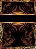 Black background with copper ornament Royalty Free Stock Image