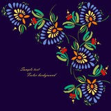 Black background with decorative bright flowers. Pattern can be used for wallpaper, pattern fills, web page background,surface textures. Gorgeous seamless Stock Photos