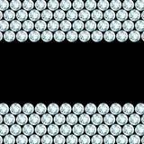 Black background with diamond borders. Black background with 2 diamond borders Vector Illustration