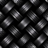 Cars tire tracks dark background stock illustration