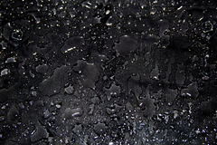 Black background, drops of water. Abstract black background, water drops, glitter background Royalty Free Stock Images