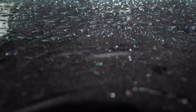 Black background, drops of water. Abstract black background, water drops, glitter background Royalty Free Stock Photography