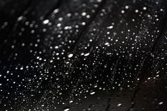 Black background. Drops of water on black background.blur Stock Photography