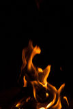 Black background flame shape Royalty Free Stock Photo