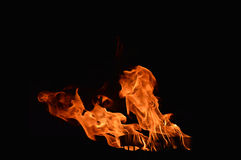 Black background with flames Royalty Free Stock Photography