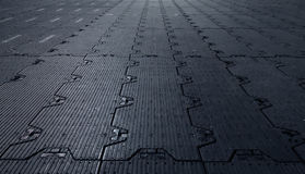Black background floor rubber sub-genres to cover the premises. Safety. Perspective stock images