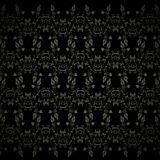 Black background with floral pattern Royalty Free Stock Photo