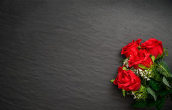 Black background with flowers Stock Images
