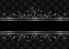 Black background with frame. Background with decorative frame, illustration Stock Photo