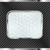 Banner. Black background with glassy banner Royalty Free Stock Images