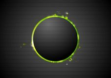 Black background with glow green light Stock Photos