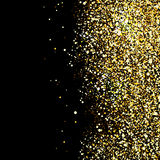 Black background with gold glitter sparkle Royalty Free Stock Images