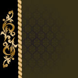 Black background with gold ornaments Royalty Free Stock Photo