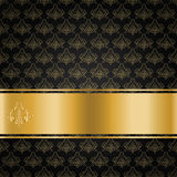 Black background with gold ribbon Royalty Free Stock Images