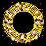 Black background with gold spangles Royalty Free Stock Photography
