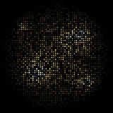 Black background with gold stars arranged in a circle. Black background with gold stars arranged in a circle Vector Illustration