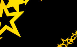 Black background with gold stars. On both sides Royalty Free Stock Images