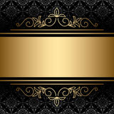 background with golden decorations - vector Royalty Free Stock Photography
