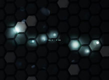 Black Background of Hexagons Royalty Free Stock Images