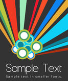 Black Background with Colourful Elements and Copyspace Royalty Free Stock Photo