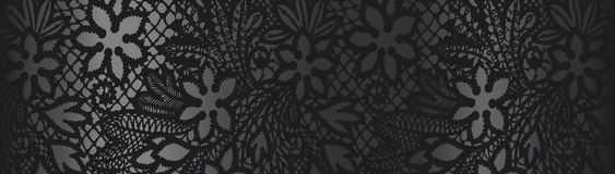 Black background with lace Royalty Free Stock Photography