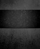 Black background with large dark black ribbon center Royalty Free Stock Images
