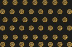 Background with bitcoins Royalty Free Stock Images