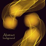 Abstract yellow stars on a black background stock illustration