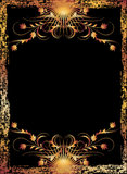 Black background with  luxurious ornament Royalty Free Stock Images