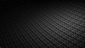 Black background made of lego blocks. 3D minimal black background made of lego blocks stock illustration