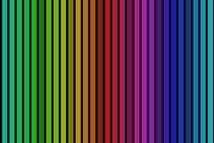 Rainbow stripes background on black. Black background with many colorful rainbow stripes stock illustration