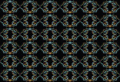 Black background with multi-colored pattern. Royalty Free Stock Photography