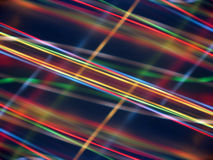 Black background with multicolored luminous lines Royalty Free Stock Image