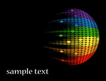 Black background with multicolored round equalizer Royalty Free Stock Photography
