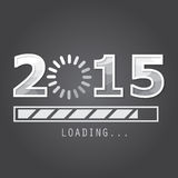 2015 on black Background. 2015 new year background,  greeting card, backdrop Royalty Free Stock Images