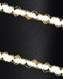 Black background with notches in a gold frame. Element for design. Template for design. copy space for ad brochure or announcement Royalty Free Stock Photography