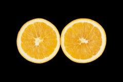 Black background orange Royalty Free Stock Photography