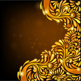 Black background orange banner pattern Stock Photo