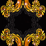 Black background orange banner pattern Royalty Free Stock Photo