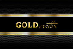 Black background with a pattern in gold style Stock Image