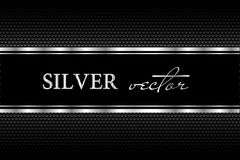 Black background with a pattern in silver style Stock Photos