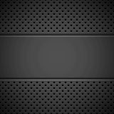 Black Background with Perforated Pattern Royalty Free Stock Images