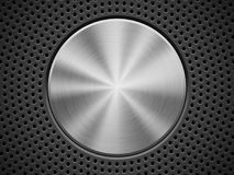 Black Background with Perforated Pattern Stock Photo