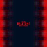 Black background with red halftone gradient pattern. Vector vector illustration