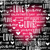 Black background with  red valentine heart and wis Stock Photos