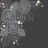 black background with roses Stock Photography