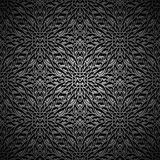 Black background, seamless pattern Stock Photos