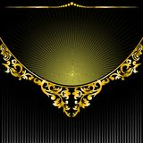 Black background with a semicircular ornament Royalty Free Stock Photos