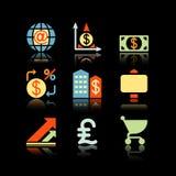 Black background set 23 Royalty Free Stock Images